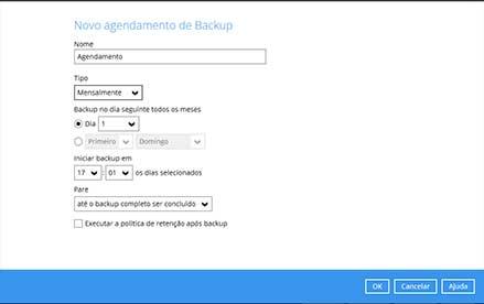 Agendamento de Backups
